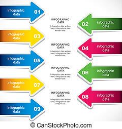 creative arrow infographic