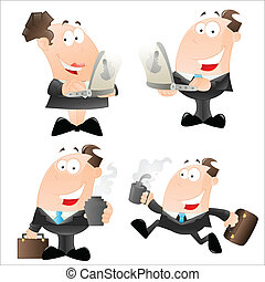 Creative Art Design of Cartoon Office Employees Vector