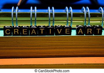 Creative art on wooden blocks