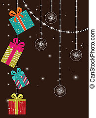 creative artwork design greeting card for new year