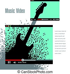 Creative artwork for music video promotion
