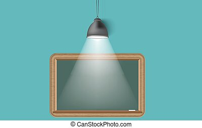Creative background blackboard and spot light. Place for your text