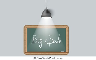 Creative background blackboard and spot light. Place for your text.