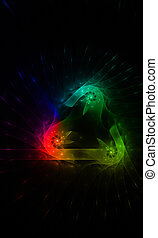 creative background color with rainbow effect