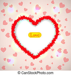 Creative background for valentine's day. Vector illustration. Best choice