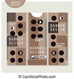 creative banner template set design