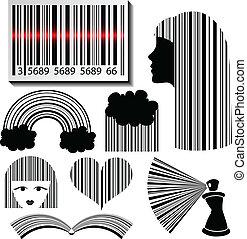 Bar code set - Creative Bar code set in different styles...