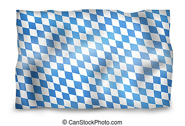 Creative Bavaria Flag Design Illustration