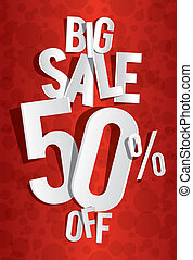 Big Sale On Red Background