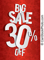 Creative Big Sale On Red Background