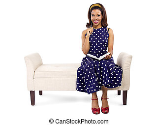 Creative Black Female Writer - Vintage style black female...