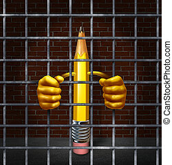 Creative Block - Creative block creativity concept with a...