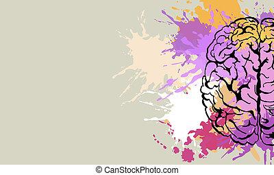 Creative brain doodle