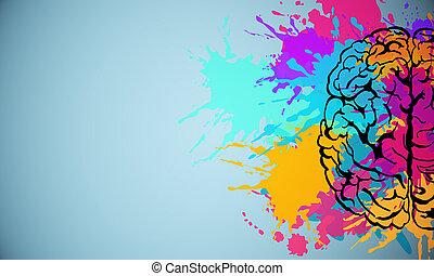Creative brain drawing
