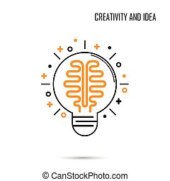Creative Brain Idea Concept Background.Design for Poster Flyer Cover Brochure,abstract background.Business Idea and Education concept.