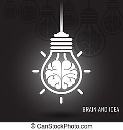 Creative brain Idea concept on dark background - Creative...