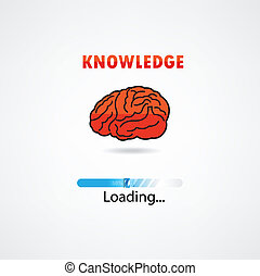 creative brain loading,education concept.