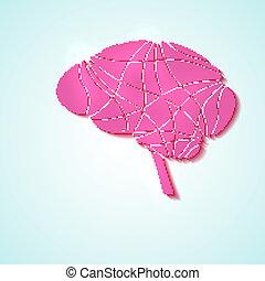 Creative brain, modern illustration.