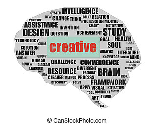 Creative brain - Rendered artwork with white background