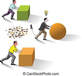 creative brain work idea - creative business man on work...