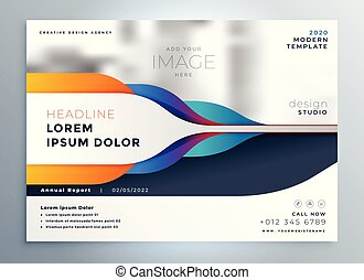 creative brochure design with abstract shapes