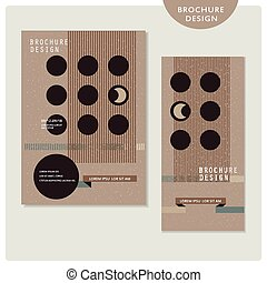 creative brochure template design set