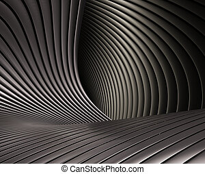 Creative brushed metal design. Luxury architectural metallic shapes background