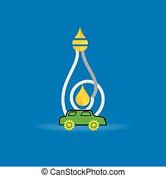 bulb fuel drop with car
