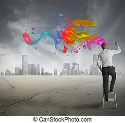 Creative business - Concept of creative business with ...