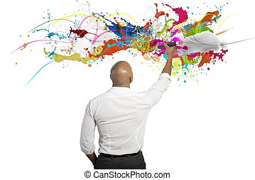 Creative business - Concept of creative business with...