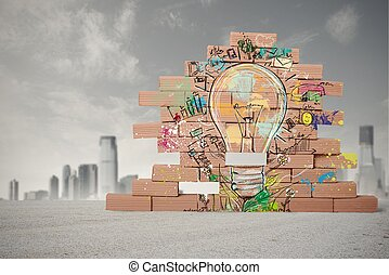Creative business idea - Concept of sketch of creative ...