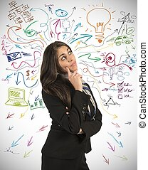 Creative business idea of a young businesswoman