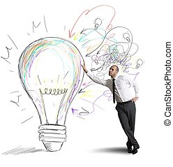 Creative business idea - Concept of businessman with a...