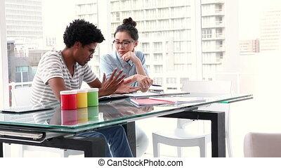 Creative business partners - Creative business team meeting...