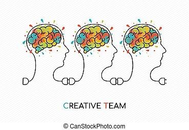 Creative business team work ideas concept art