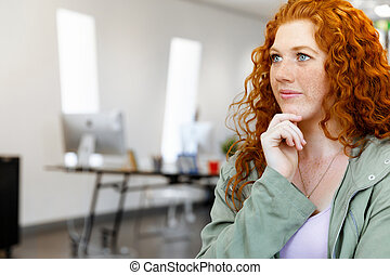 Creative business woman in office