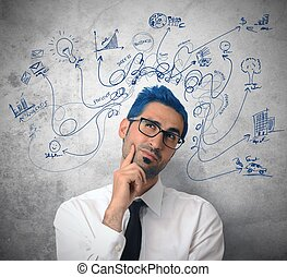 Creative businessman - Creative thinking businessman with ...