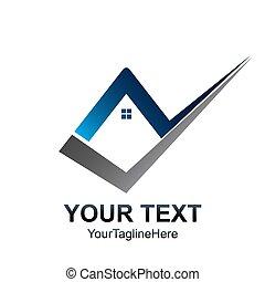 Creative Check home logo template. Real Estate element design