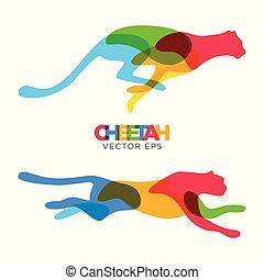 Creative Cheetah Animal Design, Vector eps 10