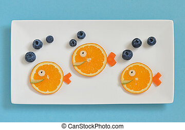 Children's Breakfast With Fruits
