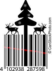 Creative Christmas bar code