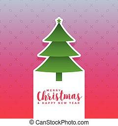 creative christmas tree design background