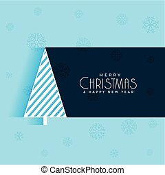 creative christmas tree design blue background