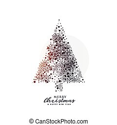 creative christmas tree design made with snowflakes