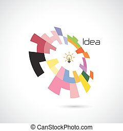 Creative circle abstract vector logo design template....