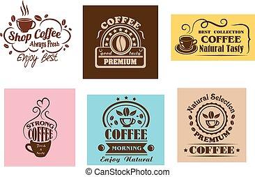 Creative coffee label graphic designs