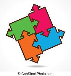 creative color puzzle design
