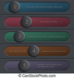 Creative colored design website layout. Vector graphic template