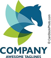 colorful abstract horse logo