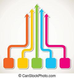 creative colorful arrow design